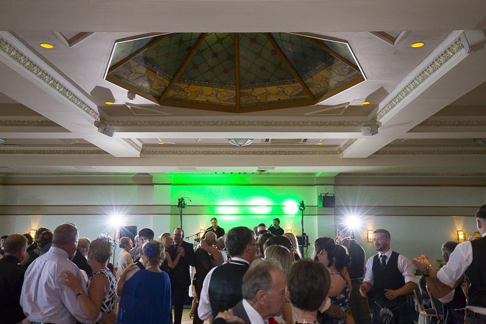 Invercarse Hotel wedding photography dundee - evening party