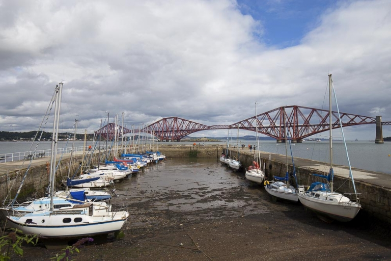 South Queensferry pier boats yachts