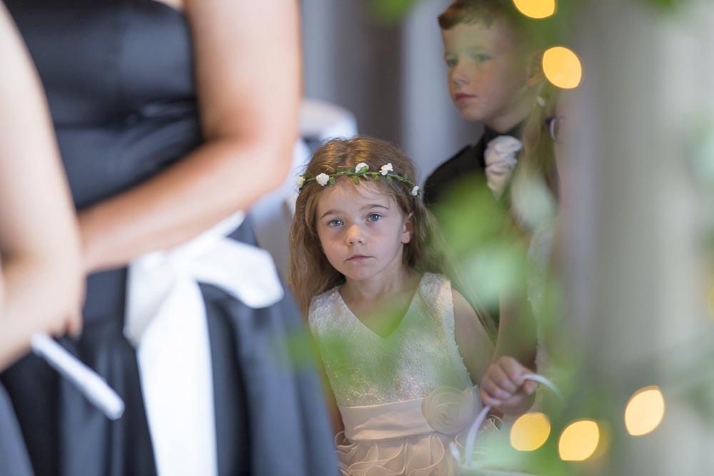 orocco pier wedding photography flower girl