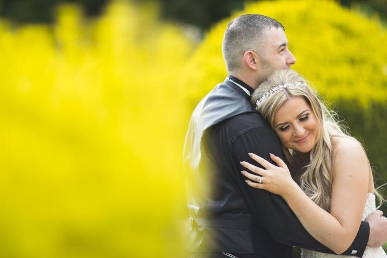 inglewood house wedding photography romantic couple with yellow background