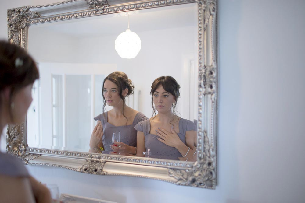 dunblane hydro wedding photography bridesmaids reflection in the mirror