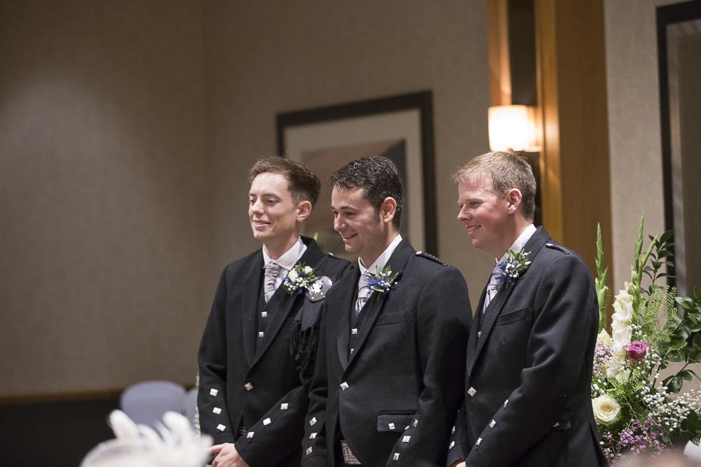 dunblane hydro wedding photography groom and best mans waiting for bride