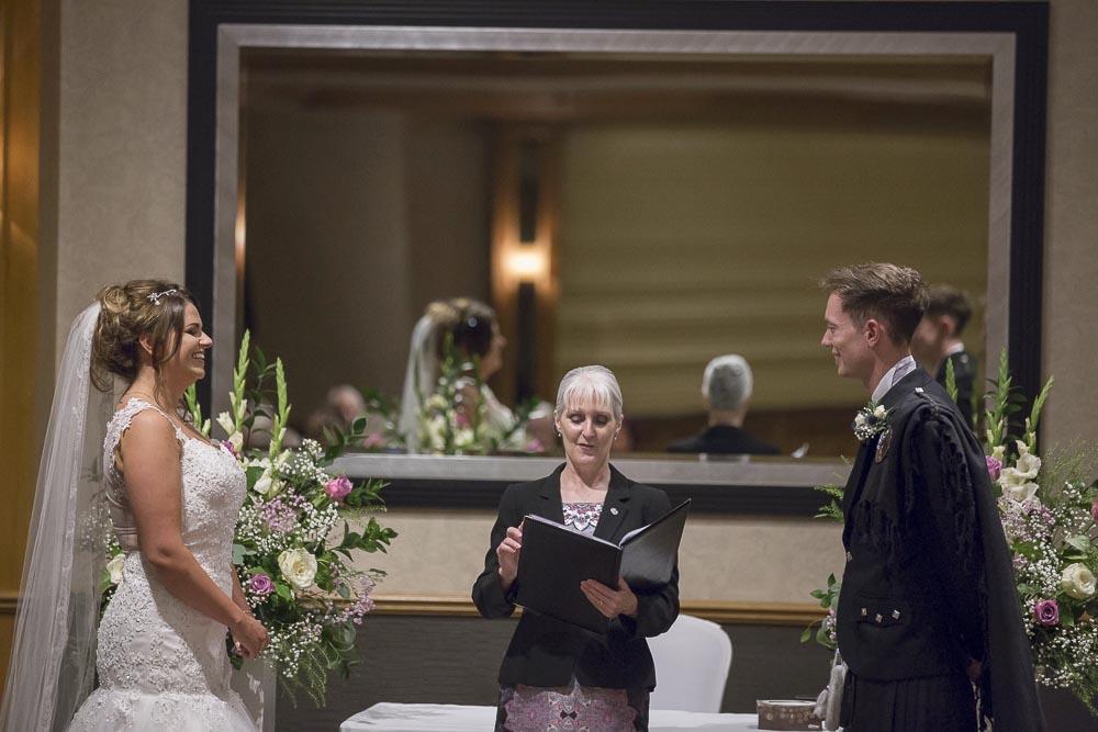 dunblane hydro wedding photography wedding ceremony