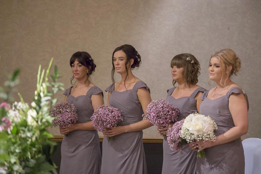 dunblane hydro wedding photography bridesmaids at wedding ceremony