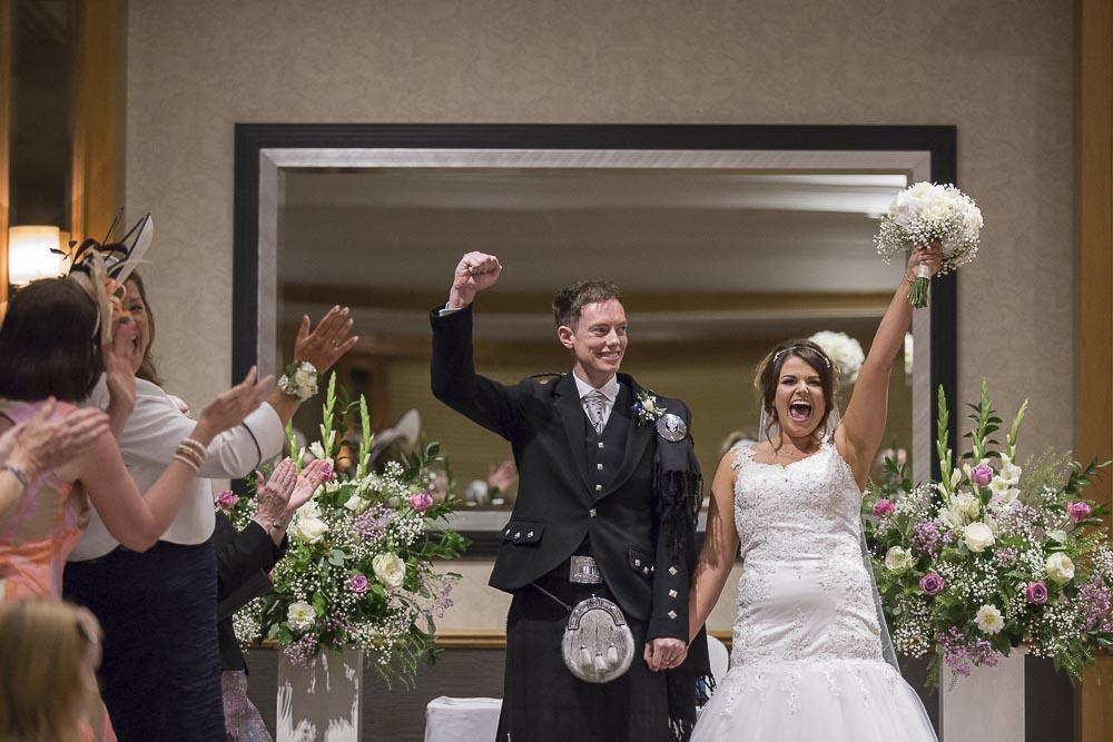 dunblane hydro wedding photography happy newlywed couple