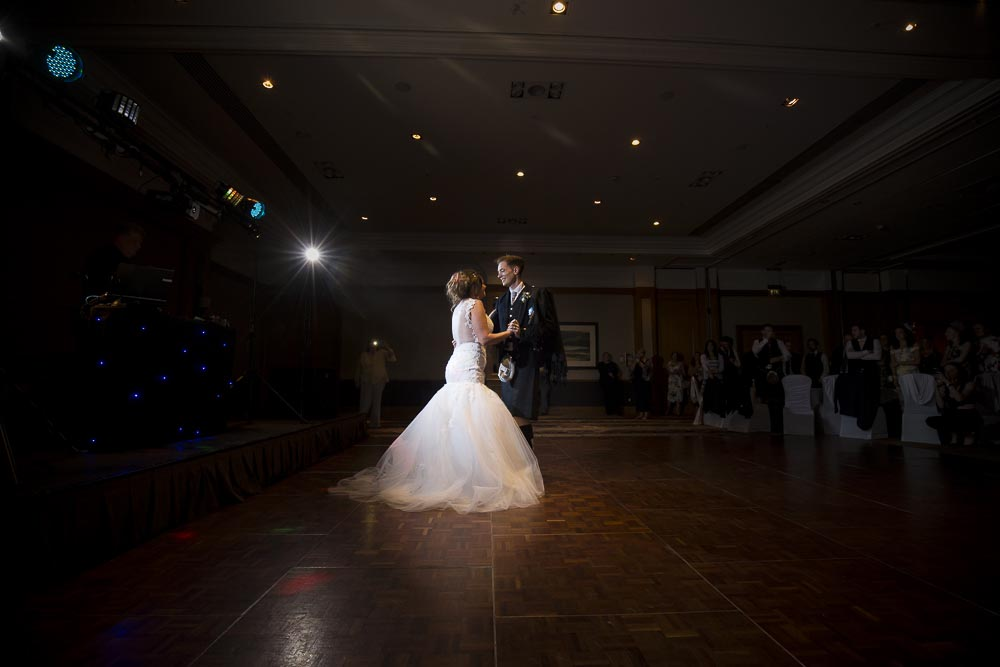 dunblane hydro wedding photography first dance