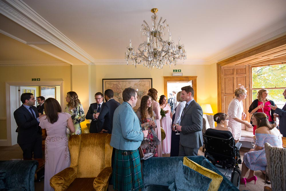 altskeith house wedding photography drinks reception