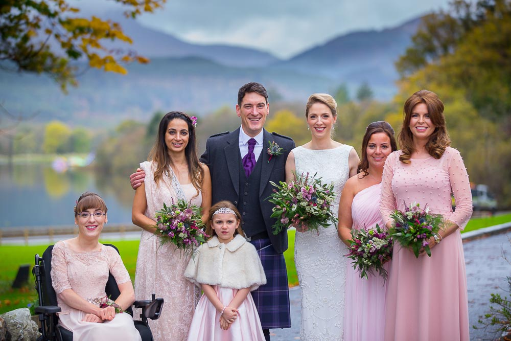 altskeith house wedding photography bridal party
