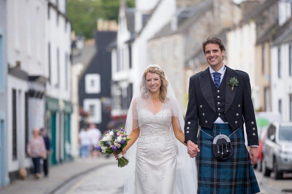 walk on high street south queensferry orocco pier wedding