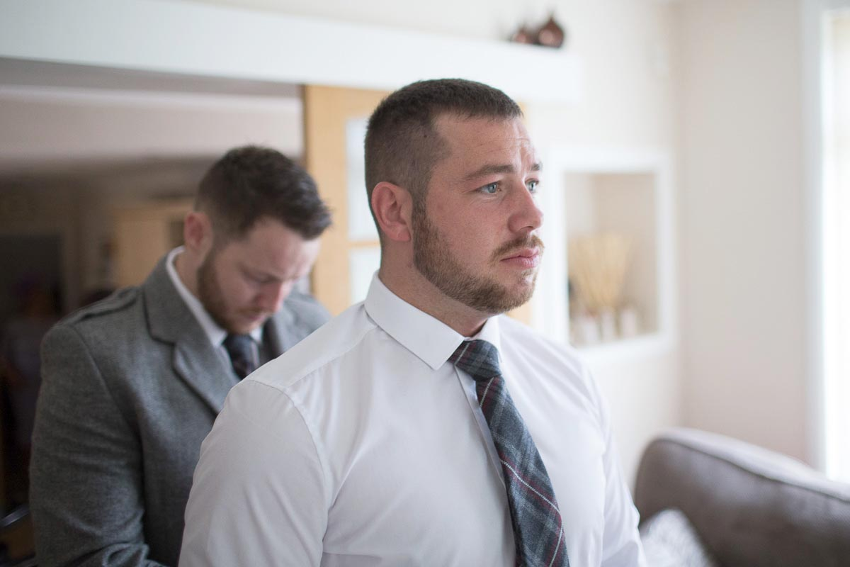 Forrester Park wedding photography groom getting ready