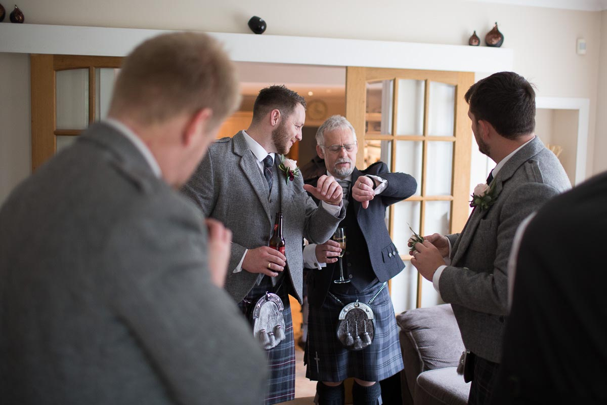 Forrester Park wedding photography Dunfermline groomsmen