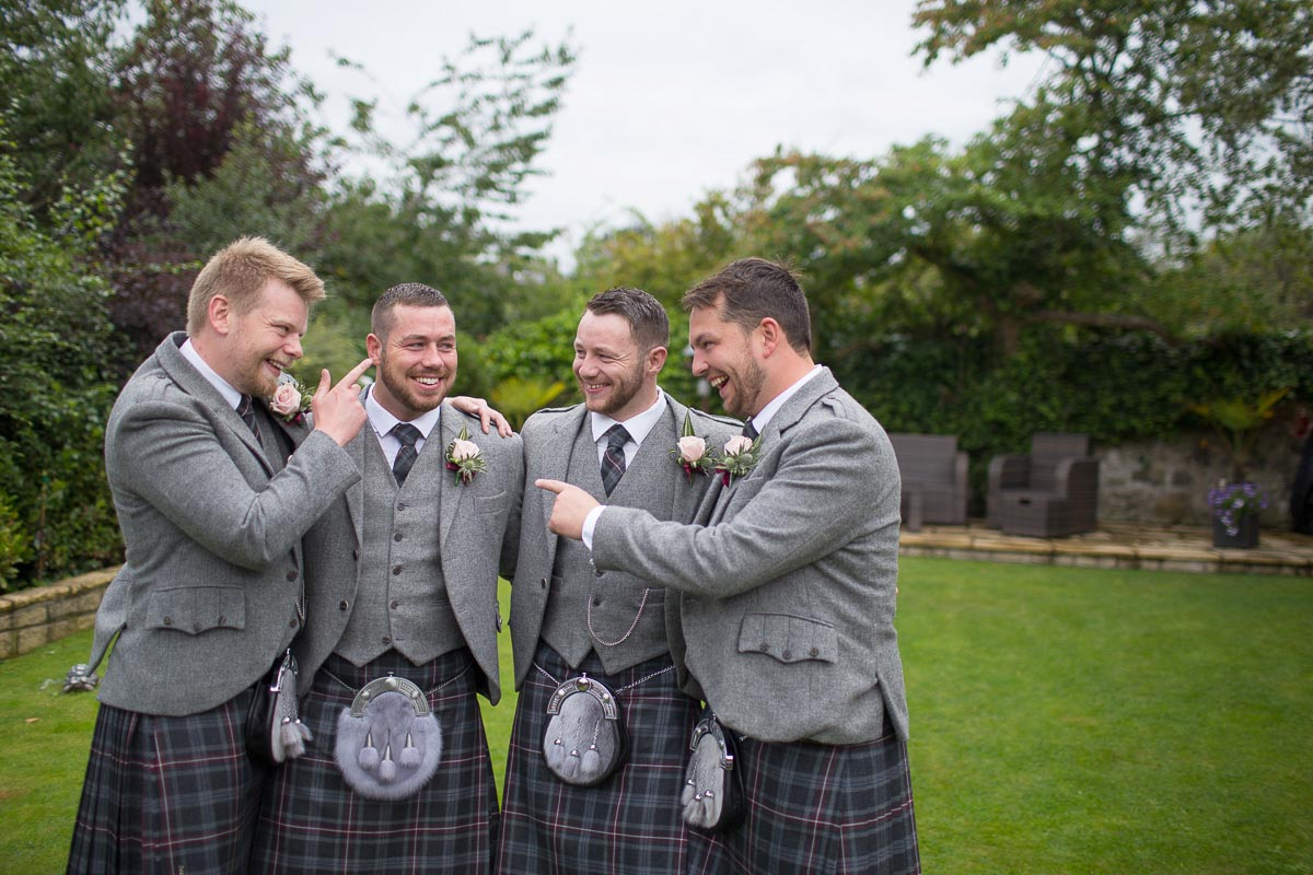 Forrester Park wedding photography groom with best man