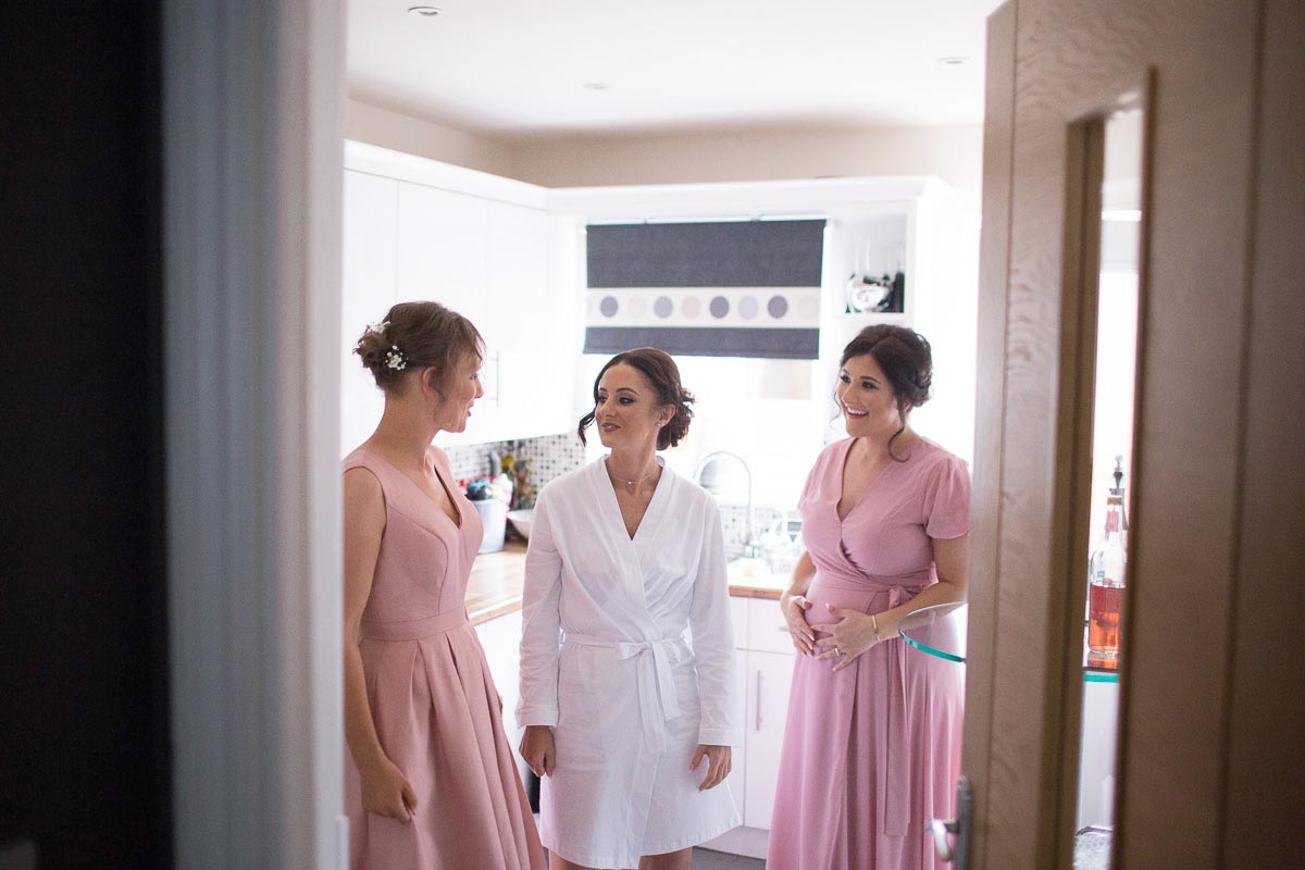 Forrester Park wedding photography bride with bridesmaids