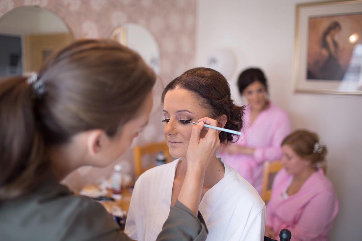 Forrester Park wedding photography bride makeup