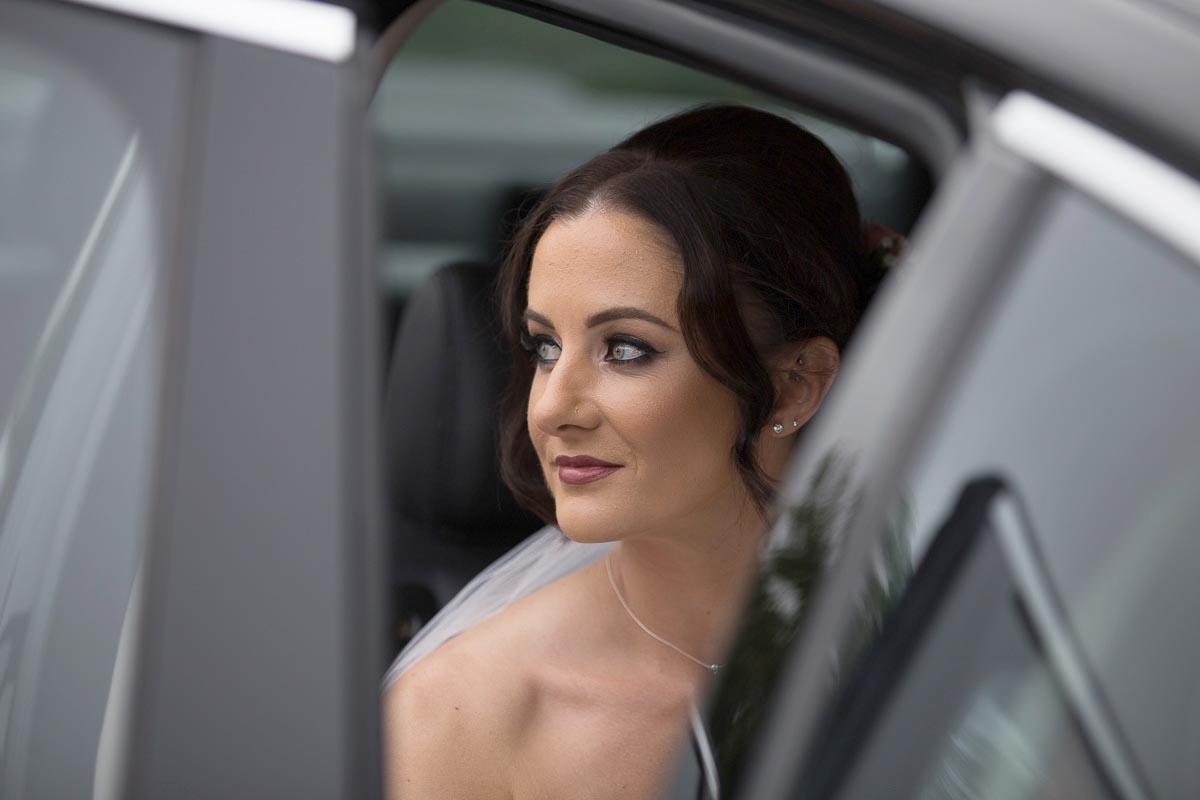 Forrester Park wedding photography bride in wedding car