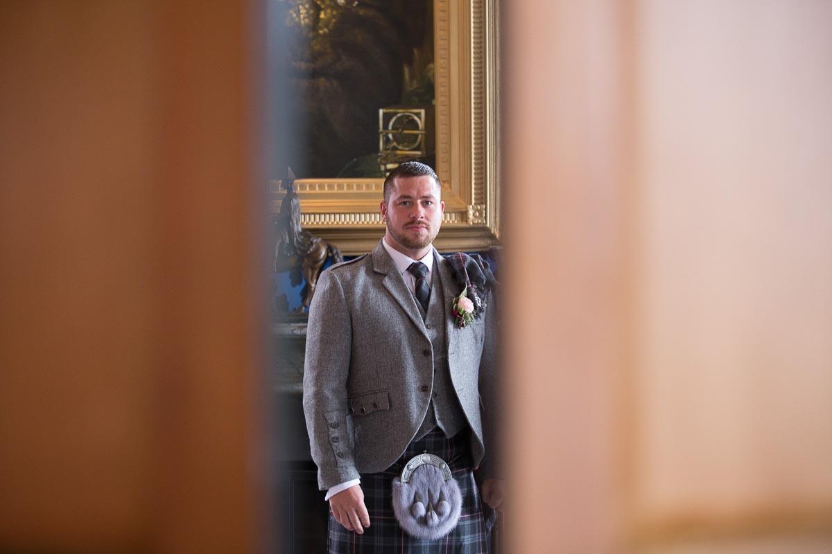 Forrester Park wedding photography groom awaiting bride