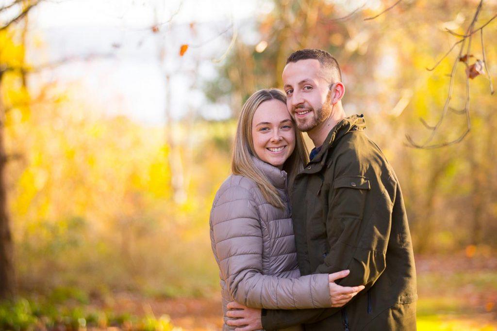 Dundee Botanic Garden engagement photography romantic couple