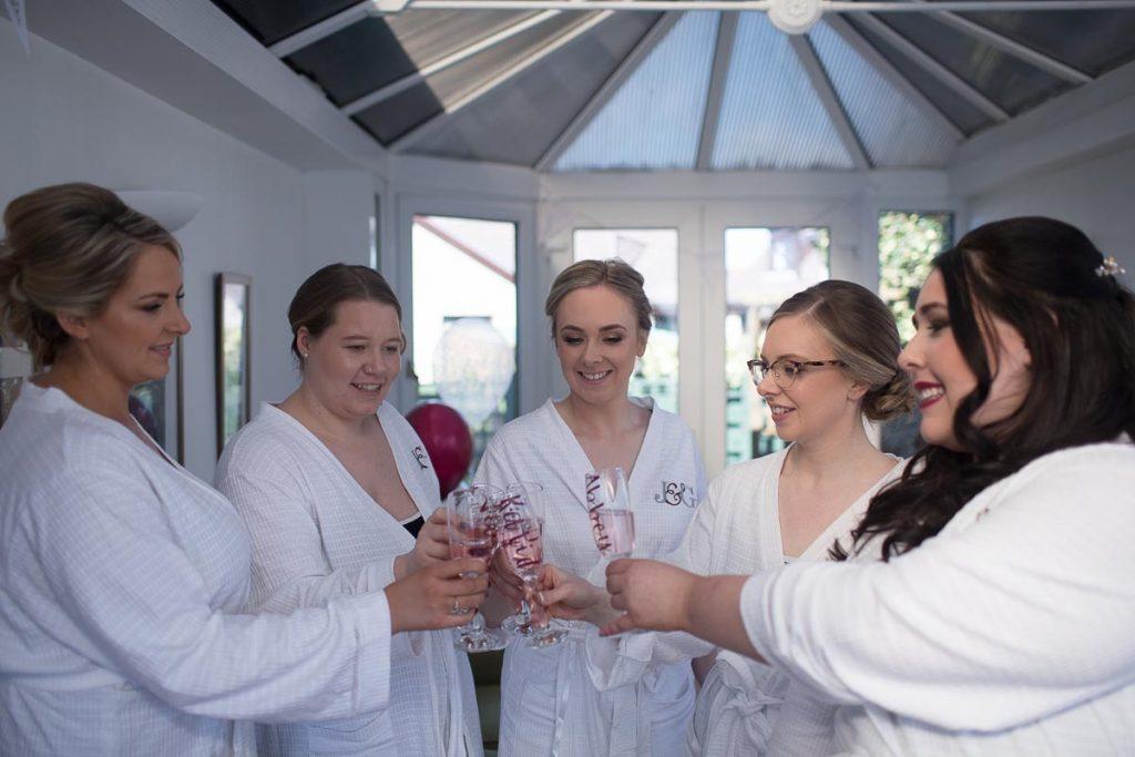 Balbirnie House Wedding Photography bridesmaids toast