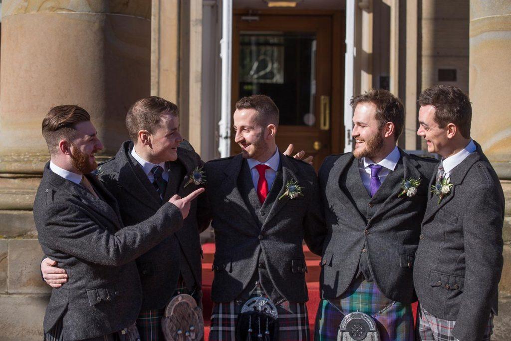 Balbirnie House Wedding Photography groom with boys