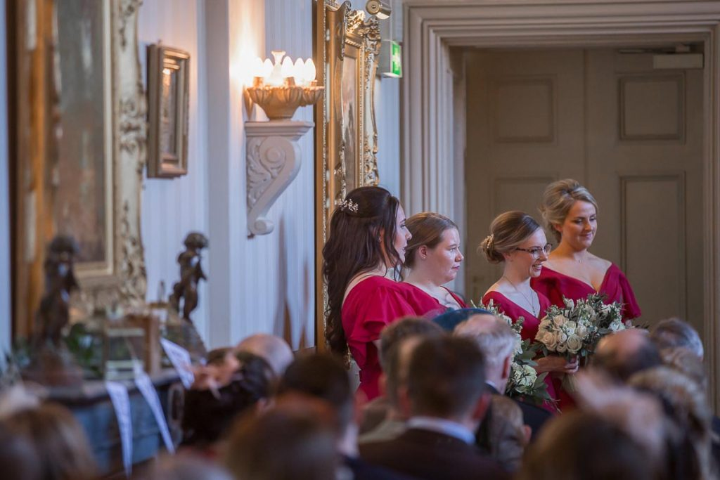 bridesmaids wedding ceremony