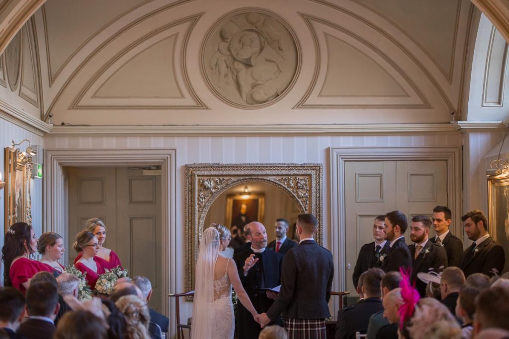 Balbirnie House Wedding Photography ceremony