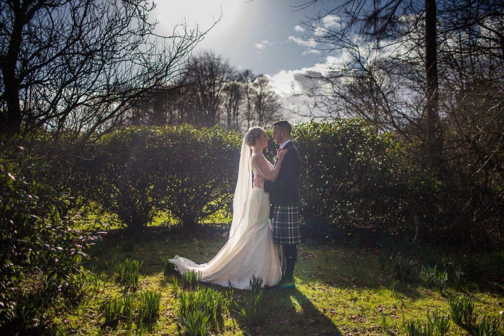 Balbirnie House Wedding Photography bride and groom