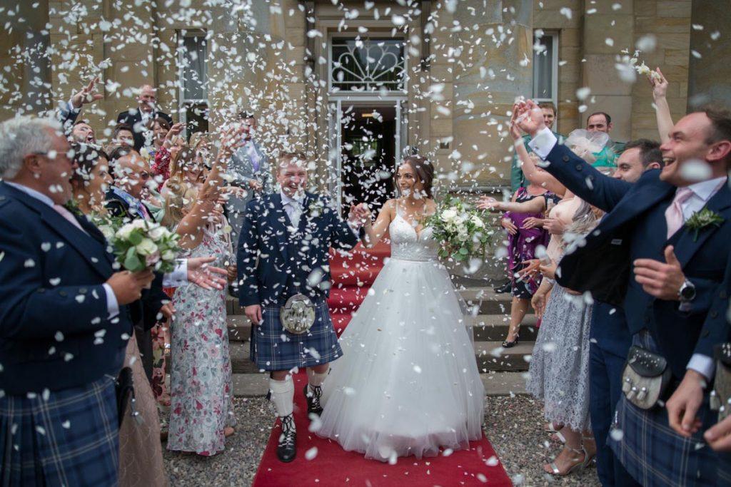 Balbirnie House wedding confetti