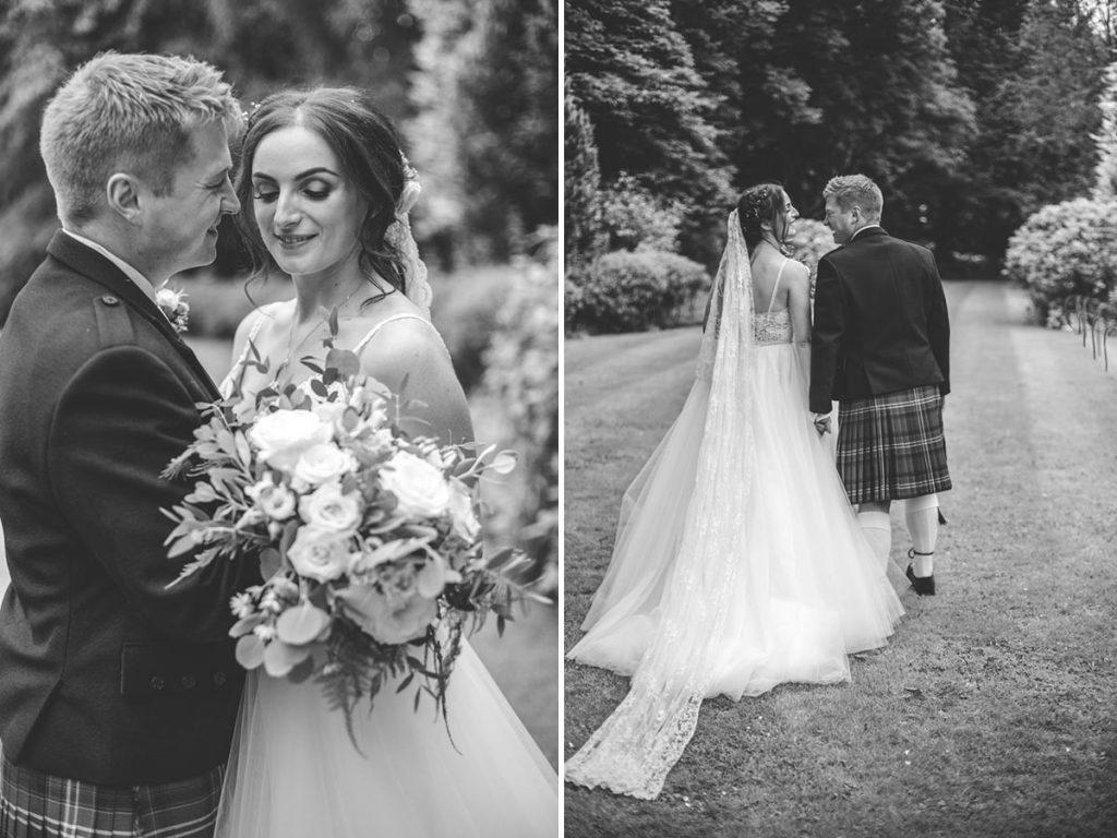 Balbirnie House bride and groom