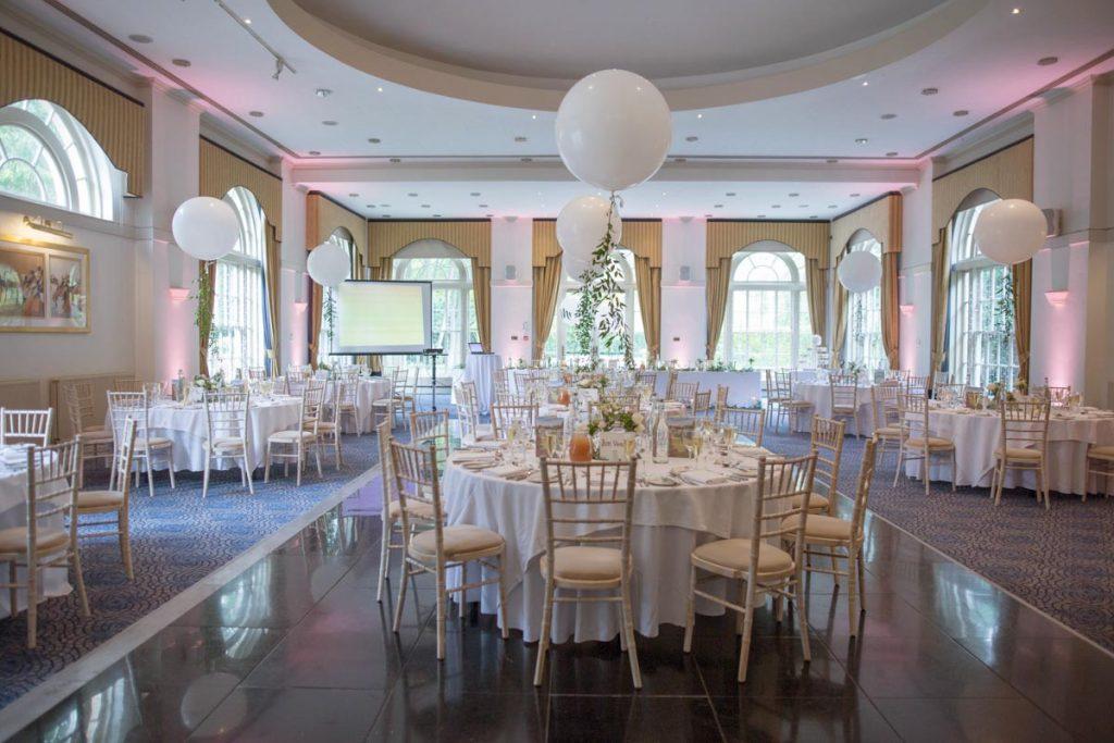 Balbirnie House ballroom table setup