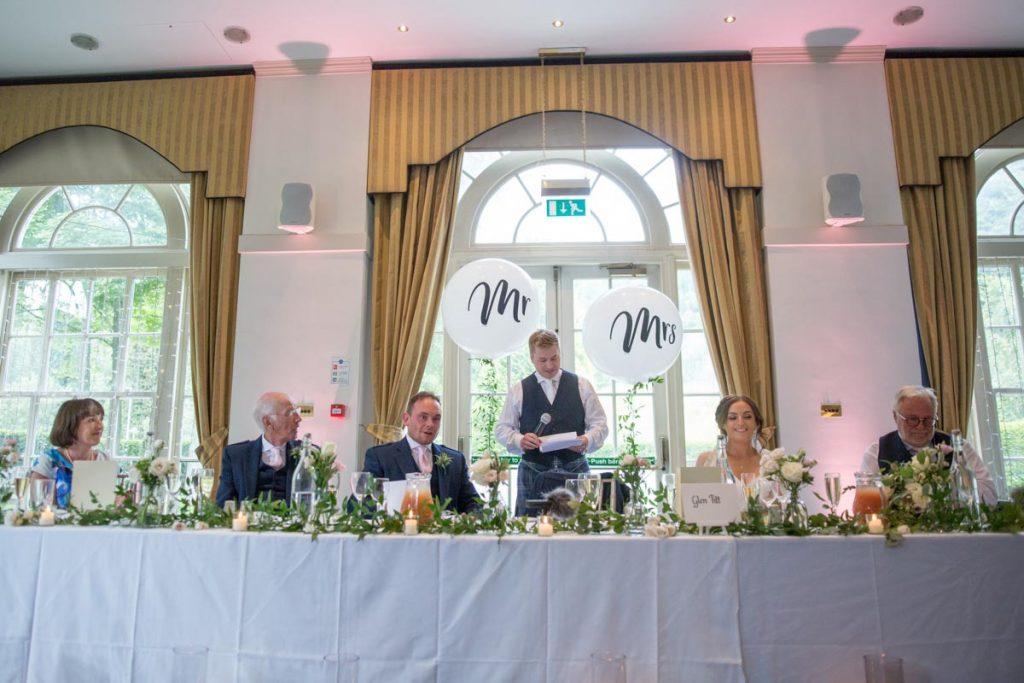Balbirnie House wedding grooms speech