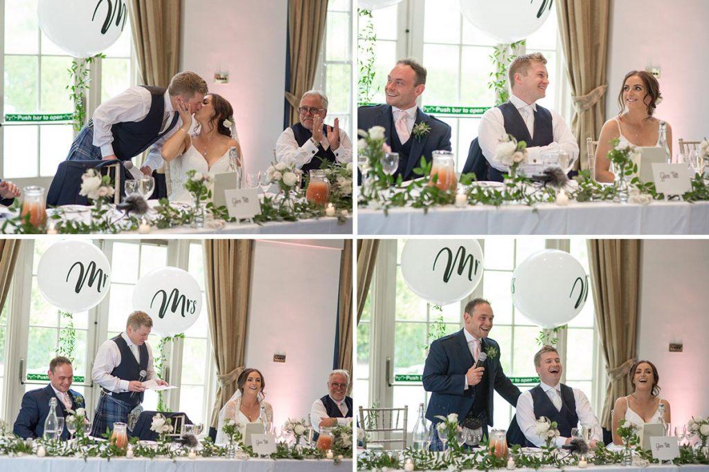 Balbirnie House wedding speeches