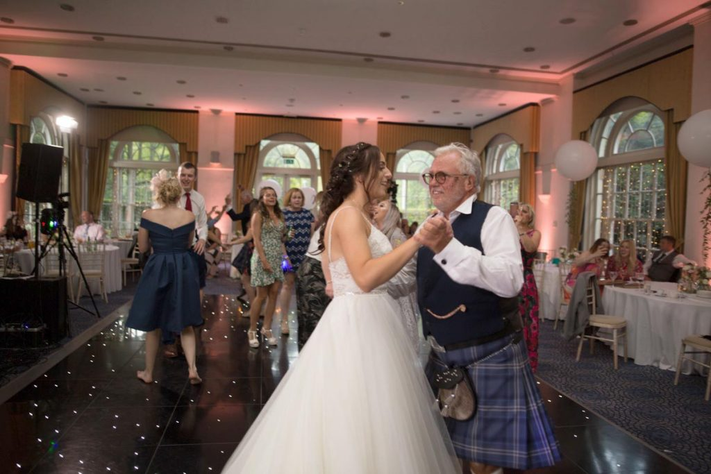 Balbirnie House bride and dad dance