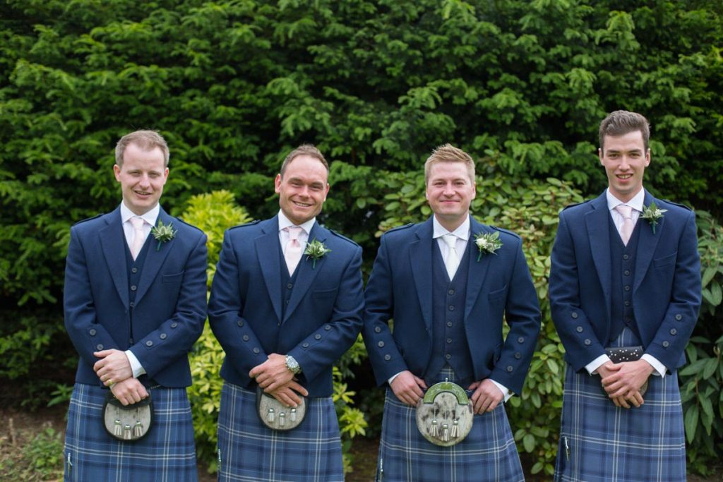 Balbirnie House groom with groomsmen