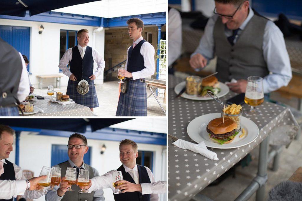 groom and ushers toast