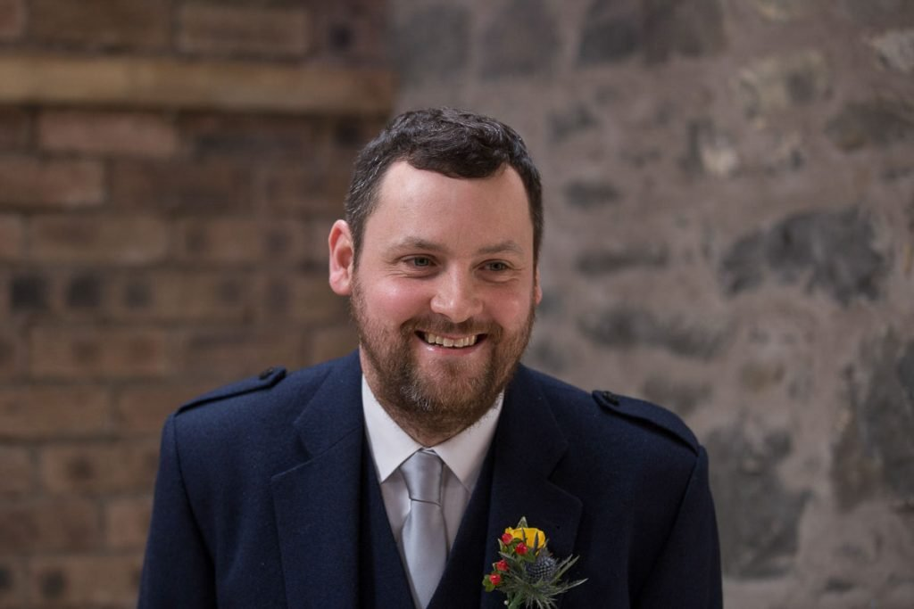 comrie croft happy groom