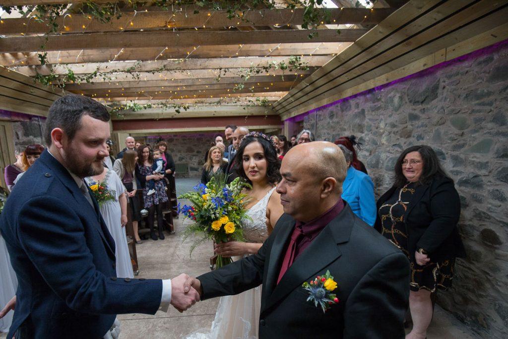 comrie croft wedding ceremony